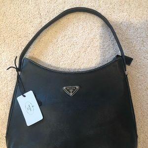 Prada black leather authentic handbag BRAND NEW